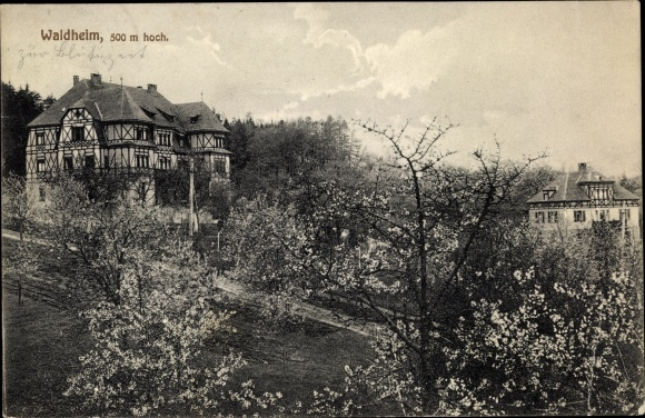 Ak Waldheim, Lindlar, Nordrhein-Westfalen, Herrenhäuser, Feldweg 0