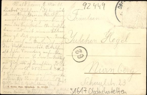 Ak Waldheim, Lindlar, Nordrhein-Westfalen, Herrenhäuser, Feldweg 1