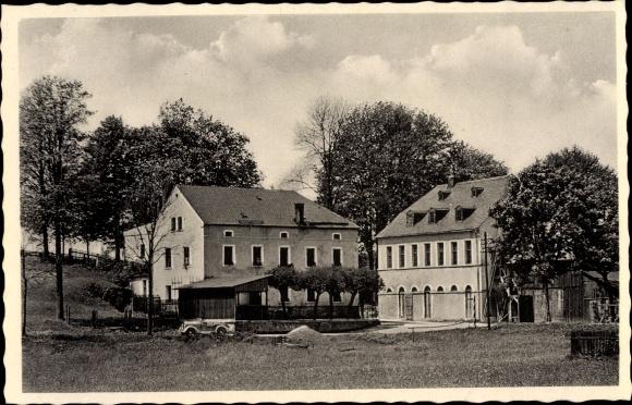 Ak Neuhausen, Selb Oberfranken, Beck's Gasthof, Gesamtansicht, Wiese 0