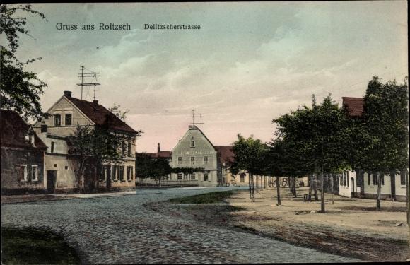 Ak Roitzsch Sandersdorf Brehna Sachsen Anhalt, Delitzscher Straße 0