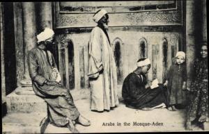 Ak Aden Jemen, Arabs in the Mosque