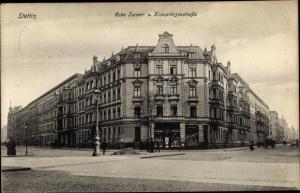 Ak Szczecin Stettin Pommern, Ecke Turner- und Kronprinzenstraße