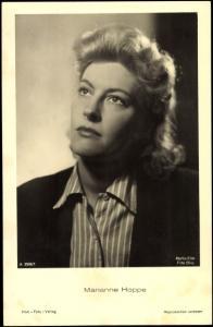 Ak Schauspielerin Marianne Hoppe, A 3586 1, Portrait