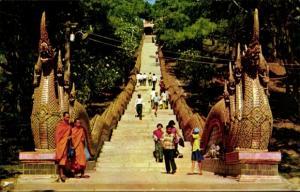 Ak Chieng mai Thailand, Thai Doi Suthep Mountain, Treppe