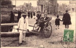Ak Marseille Bouches du Rhône, Exposition Coloniale 1922, Pousse Pousse