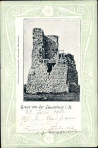 Ak Lauenburg im Harz, in Sachsen-Anhalt, Burg, Ruine