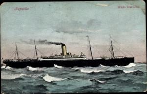 Ak Dampfer Republic, White Star Line