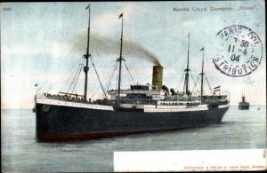 Ak Dampfer Rhein, Norddeutscher Lloyd Bremen