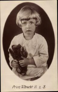 Ak Prinz Albrecht von Sachsen, Teddy
