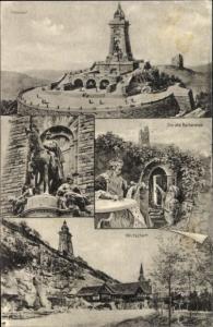 Ak Kyffhäuser Nationaldenkmal, Reiter, Der alte Barbarossa, Wirtschaft