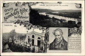 Ak Vallendar Rheinland Pfalz, Humboldthöhe, Jacob Burg, Naturforscher Alexander von Humboldt