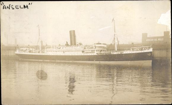 Foto Ak Steamer Anselm, Dampfschiff, Booth Line 0