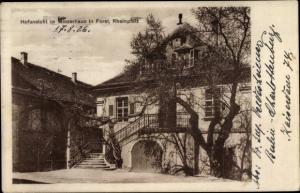 Ak Forst an der Weinstraße, Hofansicht im Winzerhaus