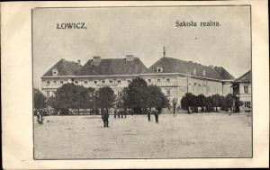 Ak Lowicz Lowitsch Polen, Szkola realna, Realschule