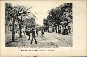 Ak Pernambuco Brasilien, Rue de l'Empereur, Straßenpartie in der Stadt