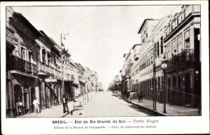 Ak Porto Alegre Brasilien, État de Rio Grande do Sul, Straßenpartie