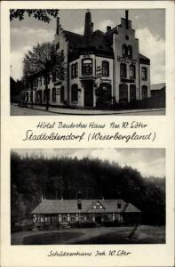 Ak Stadtoldendorf in Niedersachsen, Hotel Deutsches Haus, Bes. W. Löhr