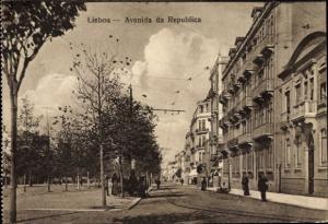 Ak Lisboa Lissabon Portugal, Avenida da Republica