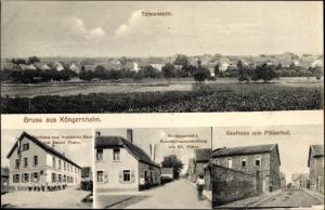 Ak Köngernheim am Oberrhein, Totalansicht von Ort, Gasthaus zum Deutschen Haus von Daniel Pharo