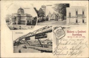 Ak Barmen Wuppertal in Nordrhein Westfalen, Bäckerei und Konditorei Ausstellung, 17-25. Juni 1905