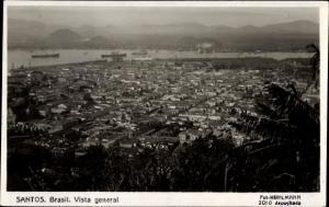 Ak Santos Brasilien, Vista general, Totalansicht der Ortschaft