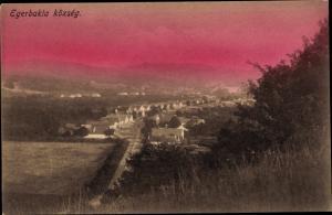 Ak Egerbakta Ungarn, Panorama vom Ort
