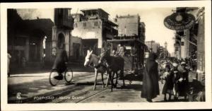 Ak Port Said Ägypten, Native quarter, Pferdewagen, Laden von Ahmed el Sayed Ibrahim