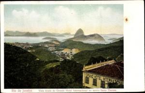 Ak Rio de Janeiro Brasilien, Vista tirada do Grande Hotel International no morro Santa Thereza