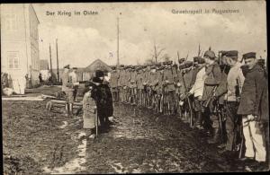 Ak Augustów Polen, Gewehrapell, Krieg im Osten, I. WK