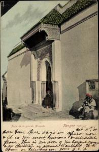Ak Tanger Marokko, Porte de la grande Mosquee