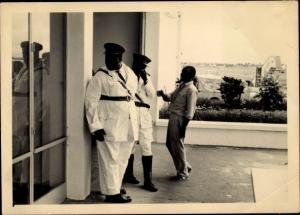Foto Ak Kindia Guinea, Portrait de Gardes