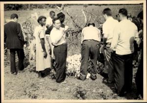 Foto Ak Kindia Guinea, Inspection de la Récolte