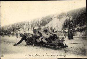 Ak Sports d'Hiver, Une Equipe de bobsleigh, Bobschlitten
