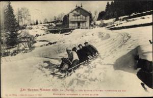 Ak Les Hautes Vosges sous la Neige, Sports d'Hiver, Bobsleigh, Bobschlitten