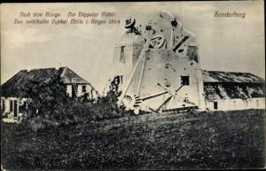 Ak Sønderborg Sonderburg Dänemark, Nach dem Kriege, Die Düppler Mühle, 1864