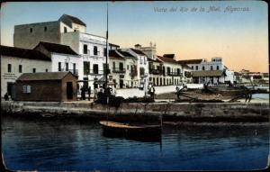 Ak Algeciras Andalusien, Vista del Rio de la Miel, Fischerhafen
