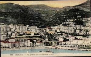 Ak La Condamine Monaco, Vue generale, Port