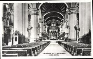 Ak Lima Peru, Interior de la Catedral
