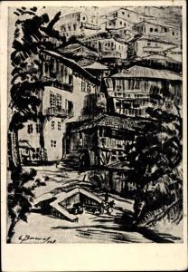 Künstler Ak Vasileff, Stoian, Tirnovo Bulgarien