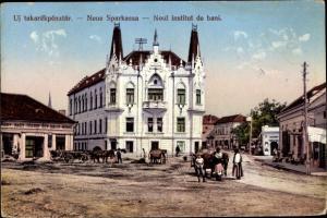 Ak Caransebeș Karansebesch Rumänien, Neue Sparkasse, Noul institut de bani
