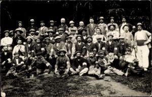 Foto Ak Groupe de Mineur, Bergleute, Gruppenfoto