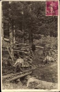 Ak Vosges, Schlitteurs dans les Vosges