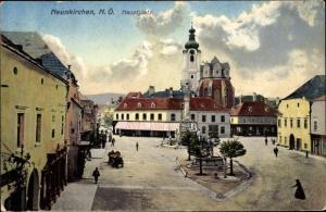 Ak Neunkirchen in Niederösterreich, Partie am Hauptplatz
