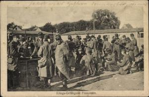 Ak Französische Kriegsgefangene, Kriegsgefangenenlager, I. WK
