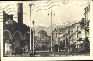 Ak Sofia Bulgarien, Marie Louise, Witoschagebirge, Straßenansicht