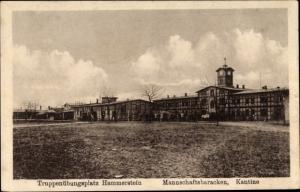 Ak Czarne Hammerstein Pommern, Truppenübungsplatz, Mannschaftsbaracken, Kantine
