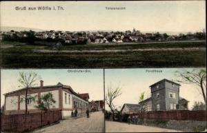 Ak Wölfis Thüringen, Totalansicht, Ohrdrufer Straße, Forsthaus