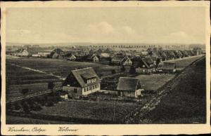 Ak Korsze Korschen Ostpreußen, Kolonie, Vogelschau auf den Ort