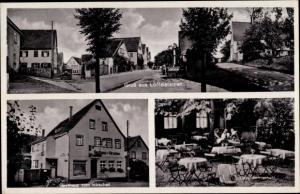 Ak Löffelstelzen Bad Mergentheim in Tauberfranken, Gasthaus zum Hirschen, Bes. E. Zeller