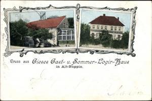 Ak Altruppin Neuruppin in Brandenburg, Gieses Gast- und Sommer-Logierhaus